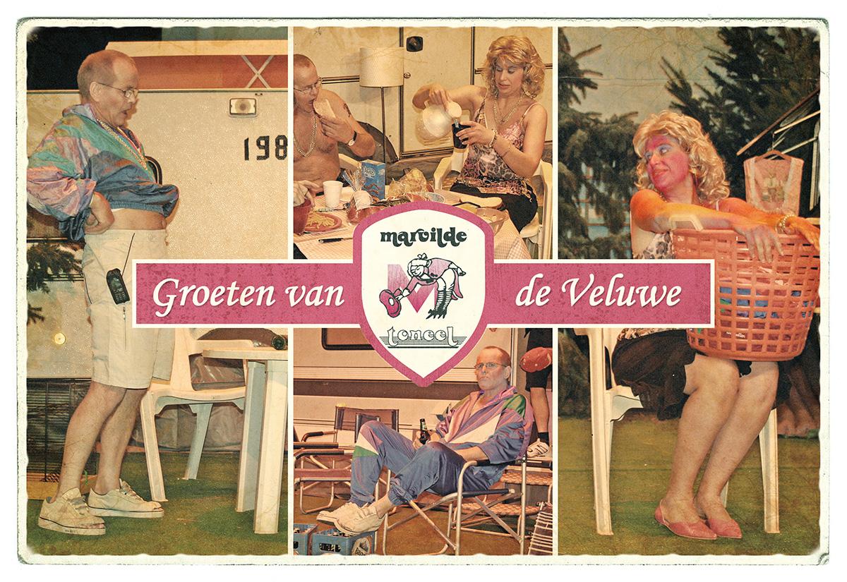Ansichtkaart Groeten van de Veluwe - Marvilde Toneel