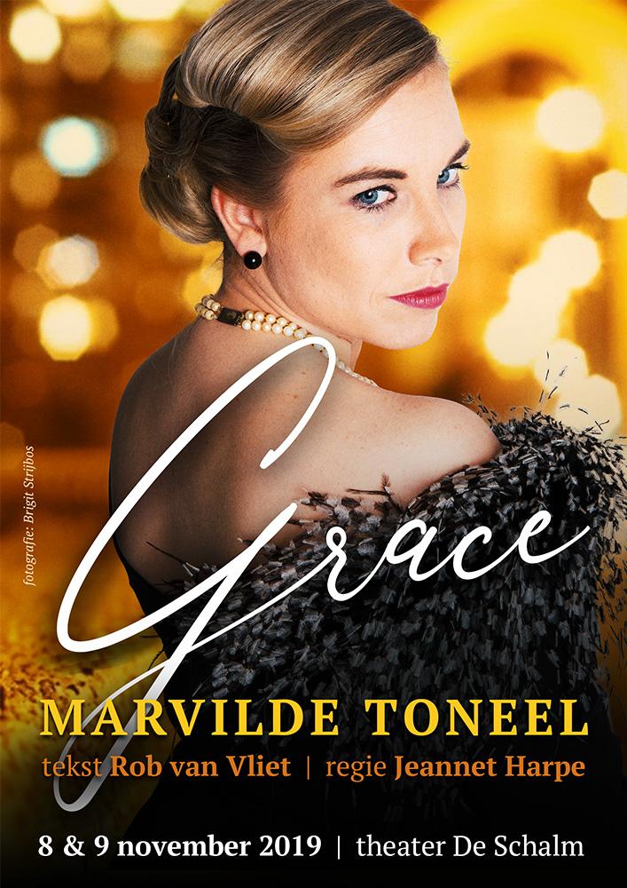 Marvilde Toneel Veldhoven - Grace 2019 - poster ontwerp: Casper Flipsen (VormMeester)